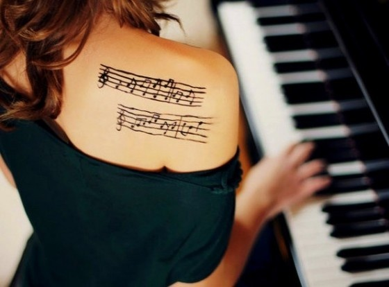 Music Sheets and/or Notes tattoo  LOVE IT!