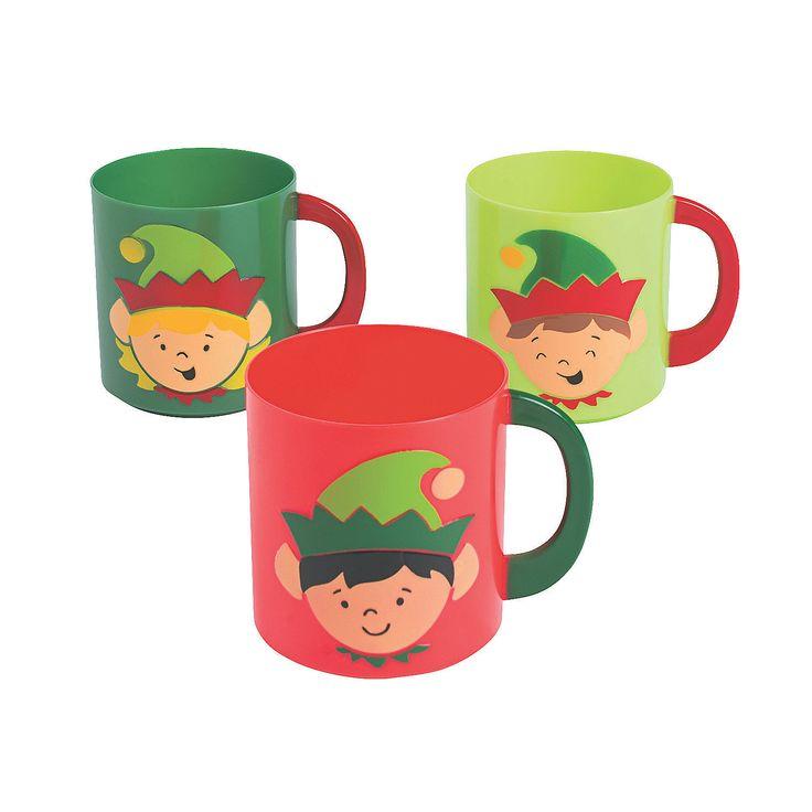 Elf+Plastic+Mugs+-+OrientalTrading.com