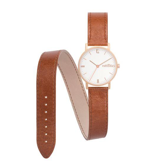 Montre l'AUDACIEUSE bracelet Double Caramel les partisanes or rose gold pink watch