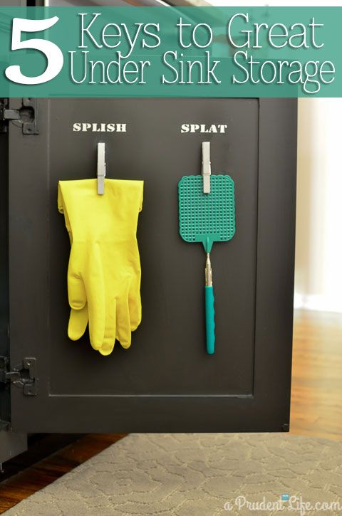 Tame the under sink cabinet with these 5 simple tips