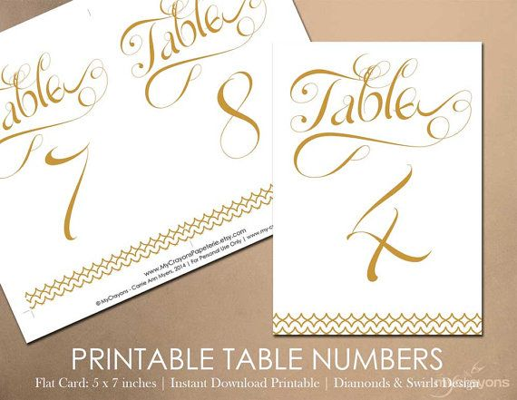 52 best printable wedding downloads images on pinterest for Table 52 number