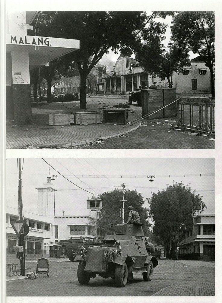 Malang 31 Juli 1947. MariniersBrigade (MarBrig) dengan dukungan pantser dari KL (Koninklijke Landmacht/Angkatan Darat) menduduki pusat kota Malang.