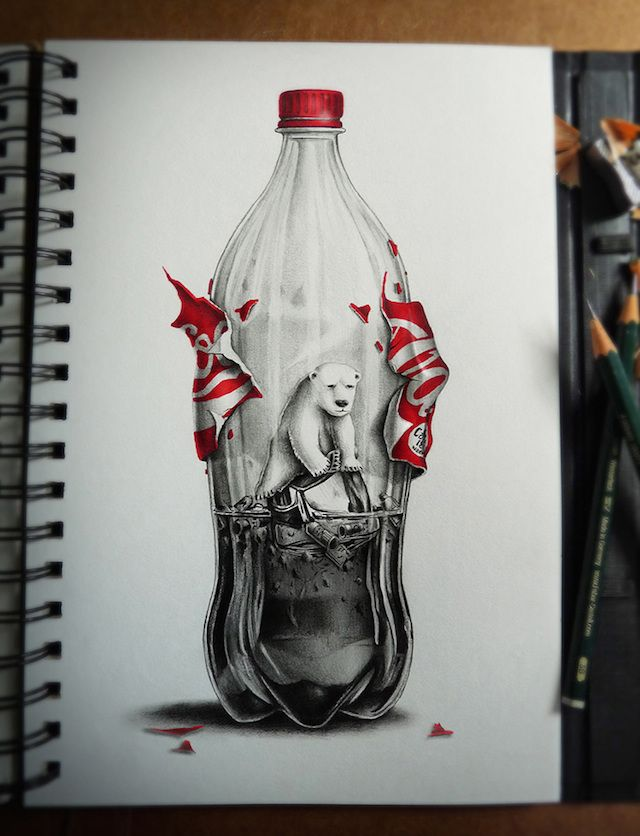 Graphite Pencil Drawing-3 #CocaCola