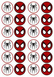 Image result for free printable cupcake wrappers and toppers with spiderman