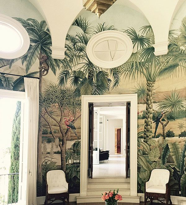 Boyacs new Wallpaper Supplier!  #interior #design #tropical #plantlife #wallpaper #palms #bathroom
