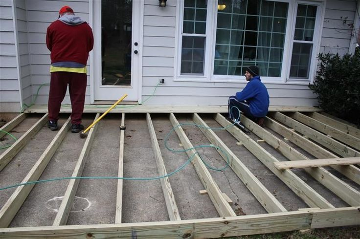 installing a deck over your patio