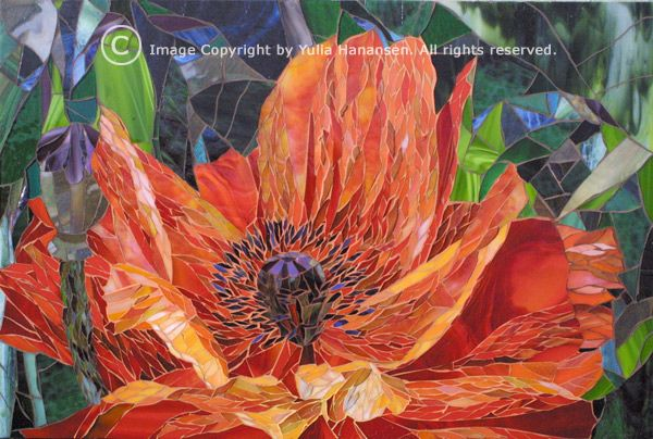 Red Poppy by Yulia Hanansen  She is going to have a class at Ciel Gallery in Charlotte, NC!!