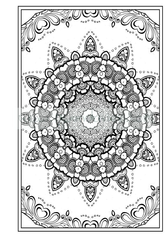 Adult Colouring In PDF Download Zen Mandalas By Gwendaviesart