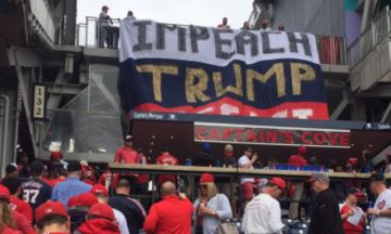 Protesters Hang Giant 'Impeach Trump' Banner At Washington Nationals Game | The Huffington Post