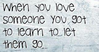 Love ain't fun when it's gone: Let go?