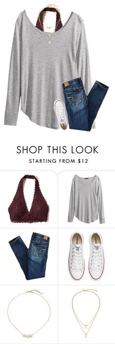 """""""{I think polyvore hates h&m... whenever I try to search for it, it says no results}"""" by southerngirl03 ❤️ liked on Polyvore featuring Hollister Co., H&M, American Eagle Outfitters, Converse, Cole Haan and Kate Spade"""