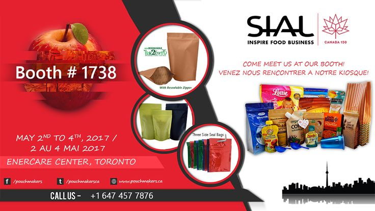 Coming to SIAL CANADA 2017? Don't forget to visit our booth #1738 for show samples & demos!  #SIALTO2017
