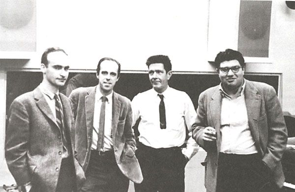 Christian Wolff, Earle Brown, John Cage, and Morton Feldman, Capitol Records Studio, New York City, ca. 1962 aka New York School
