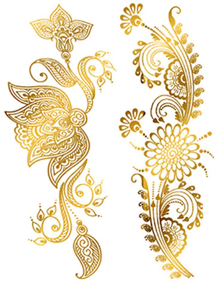 Waar Henna Tattoo Kopen: Custom Metallic Temporary Tattoo