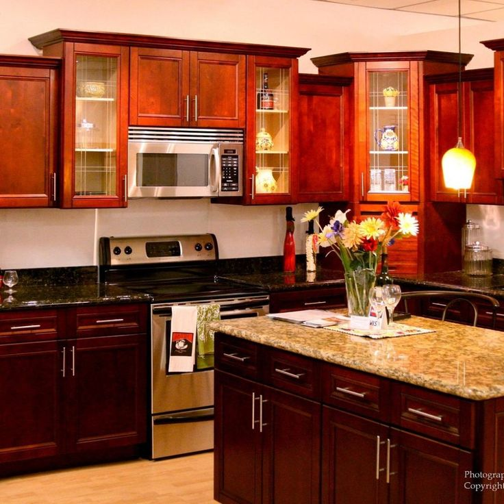 Cherry Kitchen Cabinets Images: 25+ Best Ideas About Cherry Wood Kitchens On Pinterest
