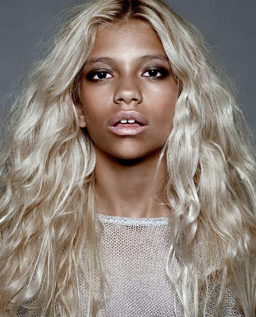 Colored Platinum: 49 Best Images About Dark Skin & Blonde Hair On Pinterest
