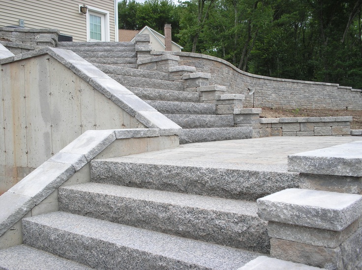 1000 images about patio on pinterest bluestone patio for Exterior stone stairs design