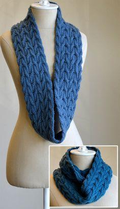 Free Knitting Pattern for Wishing Cowl Infinite Scarf