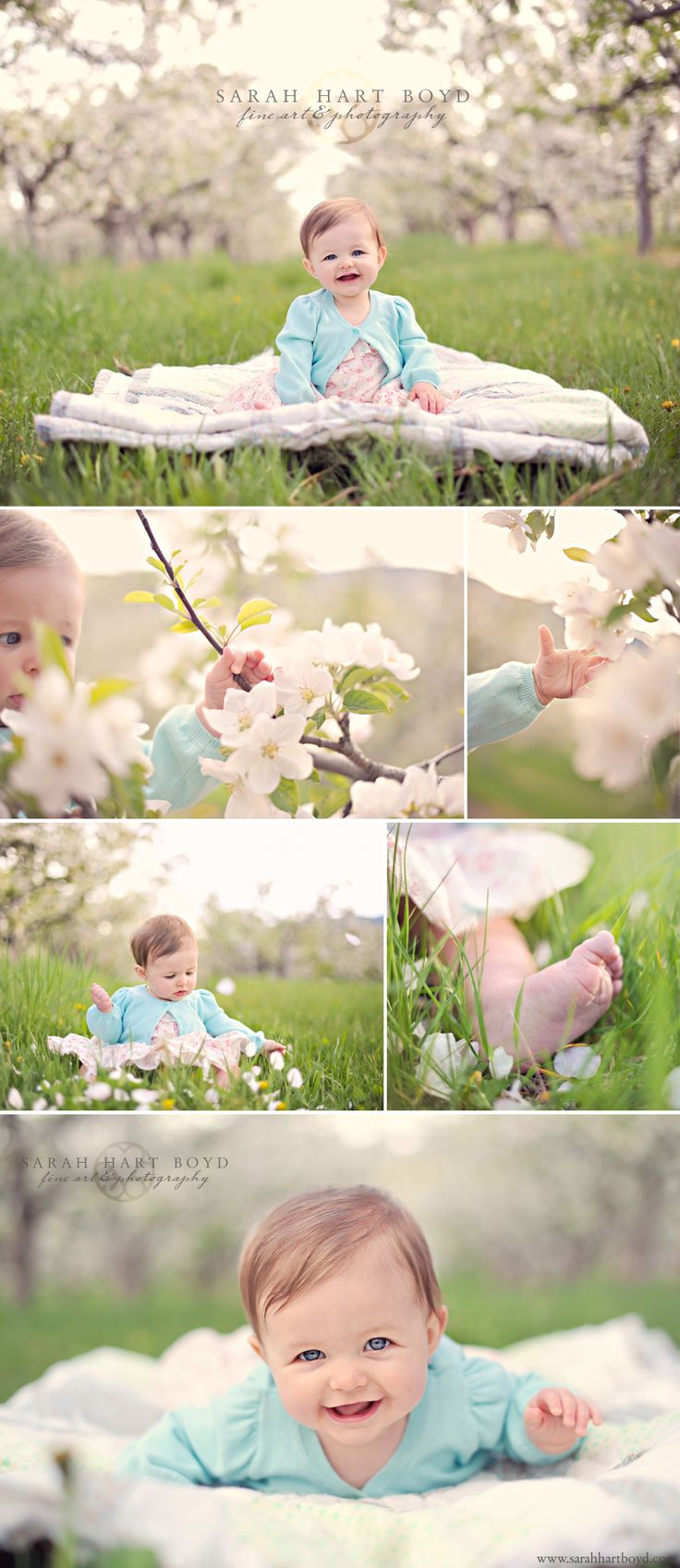 These photos are adorable, especially if your little one was born in the spring!