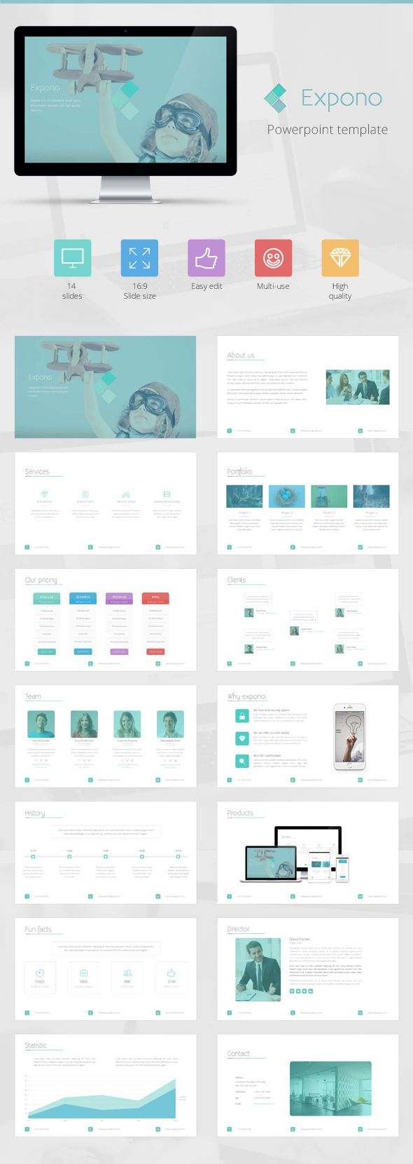 Expono Powerpoint Template (Powerpoint Templates) Preview