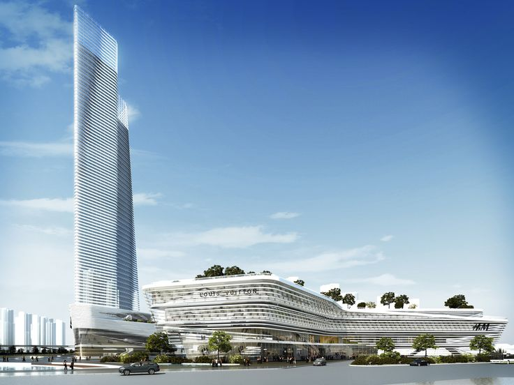 The project is part of the new Central Recreation Centre in Huizhou, located at the heart of the development and surrounded by the river connecting to Jinshan Lake. The landmark tower will act as a gateway to the city.