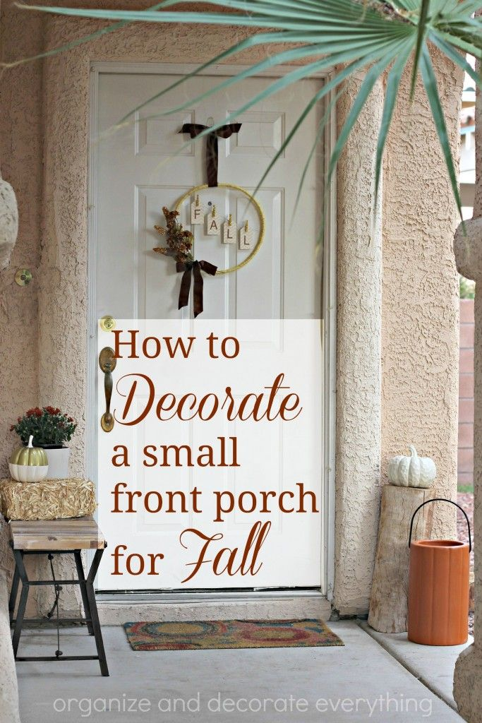 How to decorate a small front porch for fall organize - Narrow porch decorating ideas ...