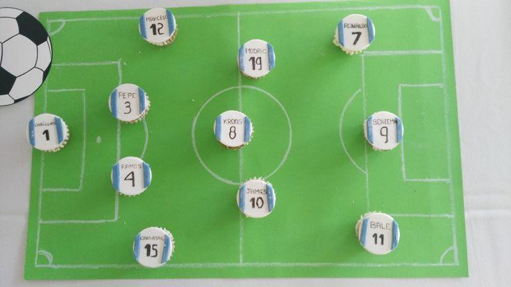 Alineación del Real Madrid en Cupcakes