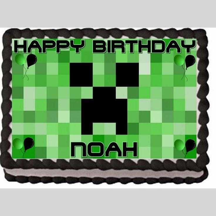 Minecraft Cake Topper Edible Birthday Party Cake Decoration | Scott's Marketplace