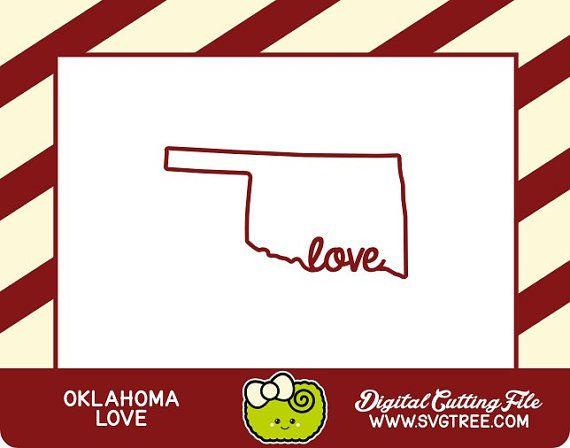 Oklahoma SVG State Outline Boomer Sooner State Decor by SVGTREE