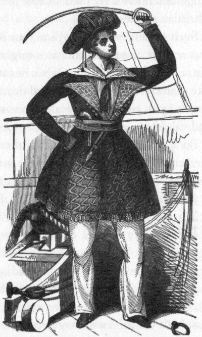 Alwilda was a Scandinavian pirate woman who accosted shipping from the North Sea to the coast of Spain with her ship crewed entirely by women. She might have been considered one of the most successful pirates in history had she not fallen in love with her persuer Prince Alf of Denmark. Her career as a pirate ended when they married.