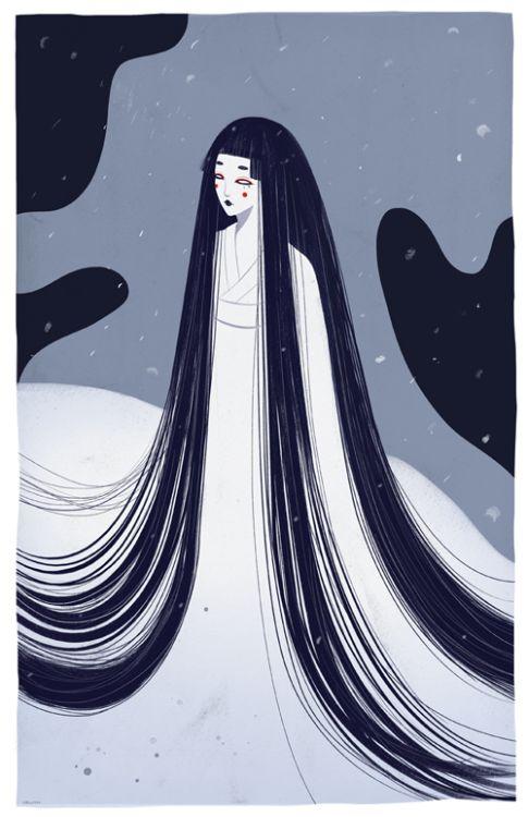 ★ Yuki-onna (Snow woman) by Velwyn Yossy ★