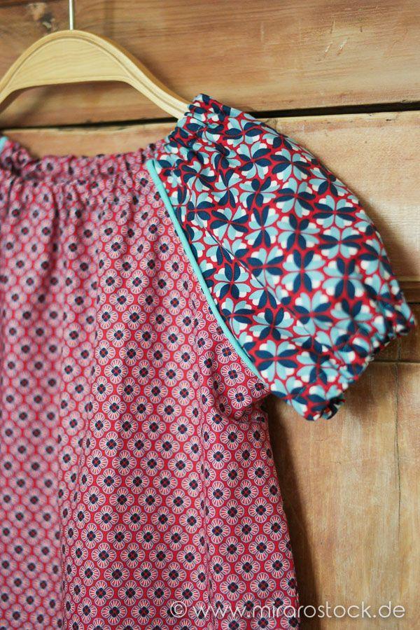 Blumiges Sommerkleid für Mädchen mit dem Schnittmuster Hannah von Farbenmix. Der bezaubernde Blumenstoff stammt aus der aktuellen Lila Lotta Kollektion (2017) Happy Flower