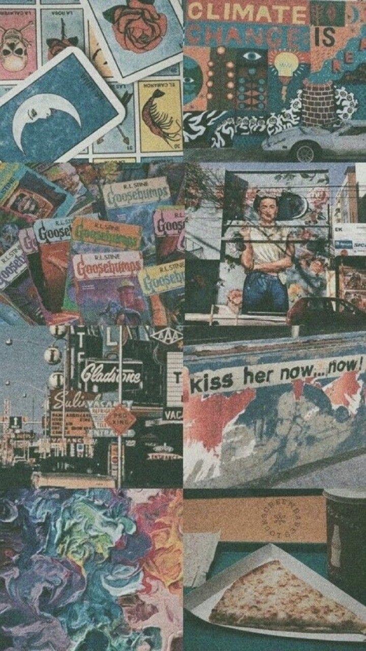 𝙛𝙤𝙡𝙡𝙤𝙬 Mialopcz Kunst Tapete Vintage