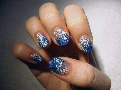 Bildresultat för blå glitternaglar