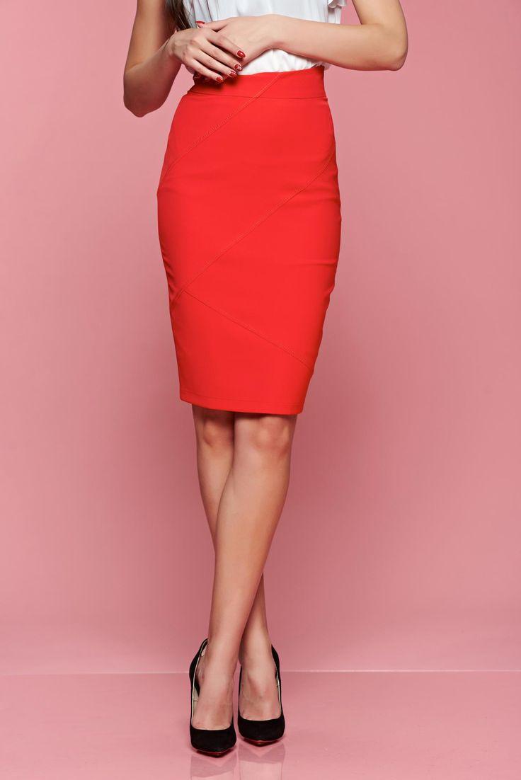Comanda online, Fusta LaDonna Modesty Red. Articole masurate, calitate garantata!