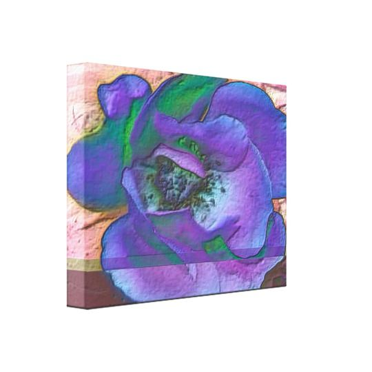 Purple home decor is absolutely adorable no matter if you like pale purple, lavender, lilac, magenta or violet purple home decor.  A purple themed home is easy to achieve by using purple wall art, purple throw pillows, purple throw blankets and purple area rugs.  Use this along with other purple wall art to create a relaxing, funky home decor theme #purple Purple Rose Canvas Print