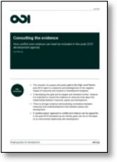 Consulting the evidence: how #conflict and #violence can best be included in the #post-2015 #development agenda   Publication   Overseas Development Institute (#ODI) #Post-MDGs #g7+ #COMD5001