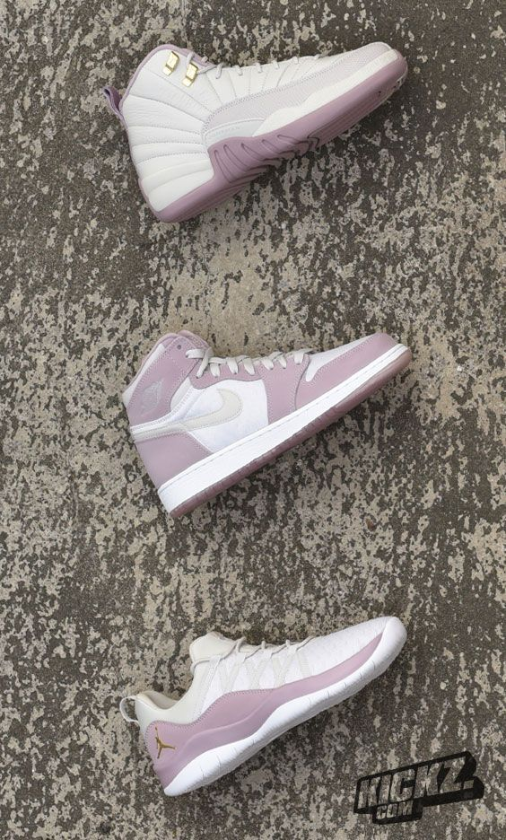 "Ladies will love this! From the Jordan ""Heiress Collection"" we bring you the Jordan Deca Fly, Air Jordan 1 Retro High Premium & Air Jordan 12 Retro Premium."