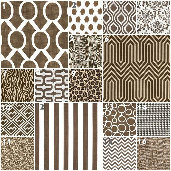 Modern Brown Crib Bedding Baby Bedding Crib Set by modifiedtot, $30.00