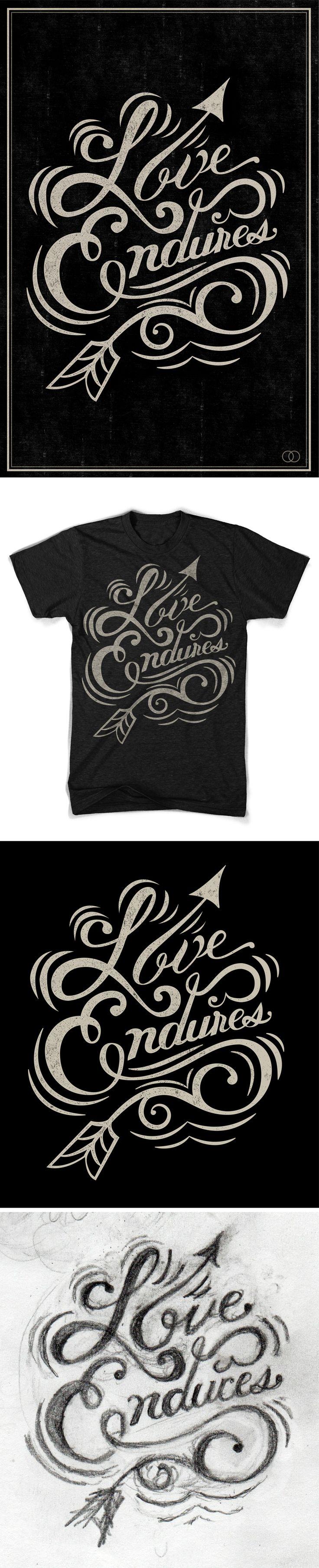 Shirt design uber - Love Endures Nicholas D Amico Diy Stencil T Shirt Design