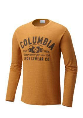 Columbia Men's Ketring™ Graphic Long Sleeve Shirt - Canyon Gold Heather - Xl