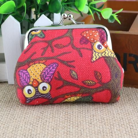 Women's Owl Purse - Red