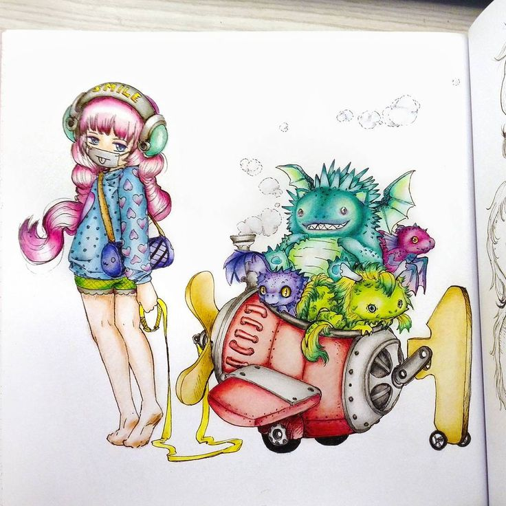 A fun and colourful pic for the moment :) ______________________  #popmangacoloringbook #popmanga #coloring #coloringforadults #coloringbook #coloringbooks #adultcolouringbook #adultcoloringbooks #adultcoloring #anime #manga #colorful #colorpencils #раскраскидлявзрослых #раскраска #арт_терапия #цветныекарандаши #аниме #манга