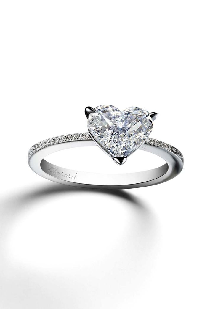 heart shaped diamond engagement rings the most romantic diamond cut - Heart Shaped Wedding Rings