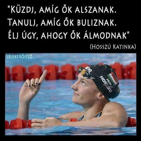 Hosszú Katinka idézet a célok eléréséről. A kép forrása: Lélekerősítő