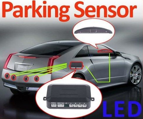 Car LED Parking Reverse Backup Radar System with Backlight Display  4 Sensors. Get it on this week's deal. #weeklydeal #reversesensors #caraccessories