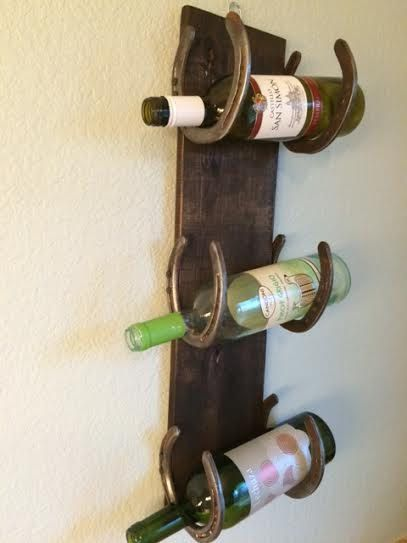Horseshoe Wine Rack With Reclaimed Pallet Wood By Ortegooriginals