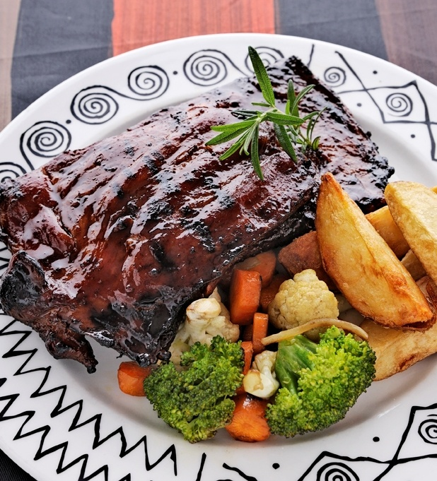Warthog Rib Rack at Arnolds on Kloof Cape Town
