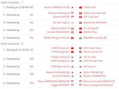 Jadwal Babak Semifinal Danisa Denmark Open 2017 Super Series Premier Live Kompas TV | Natarizqi