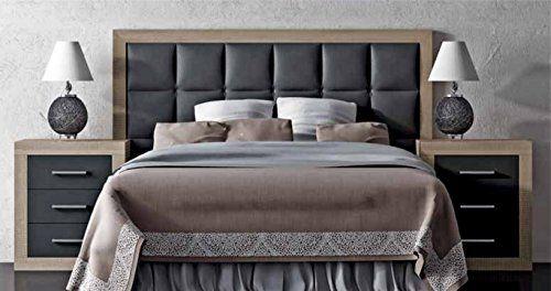 FACTORY MUEBLES - Cabecero de polipiel y madera para camas de 135 cms y 150 cms Modelo Argentina. - Comprar colchón aloe vera, viscoelástica y viscogel